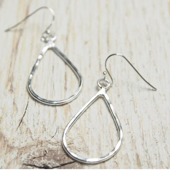 Image of medium sized teardrop outline earrings