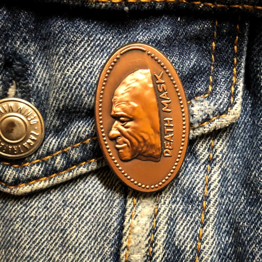 Image of Pressed penny lapel pin