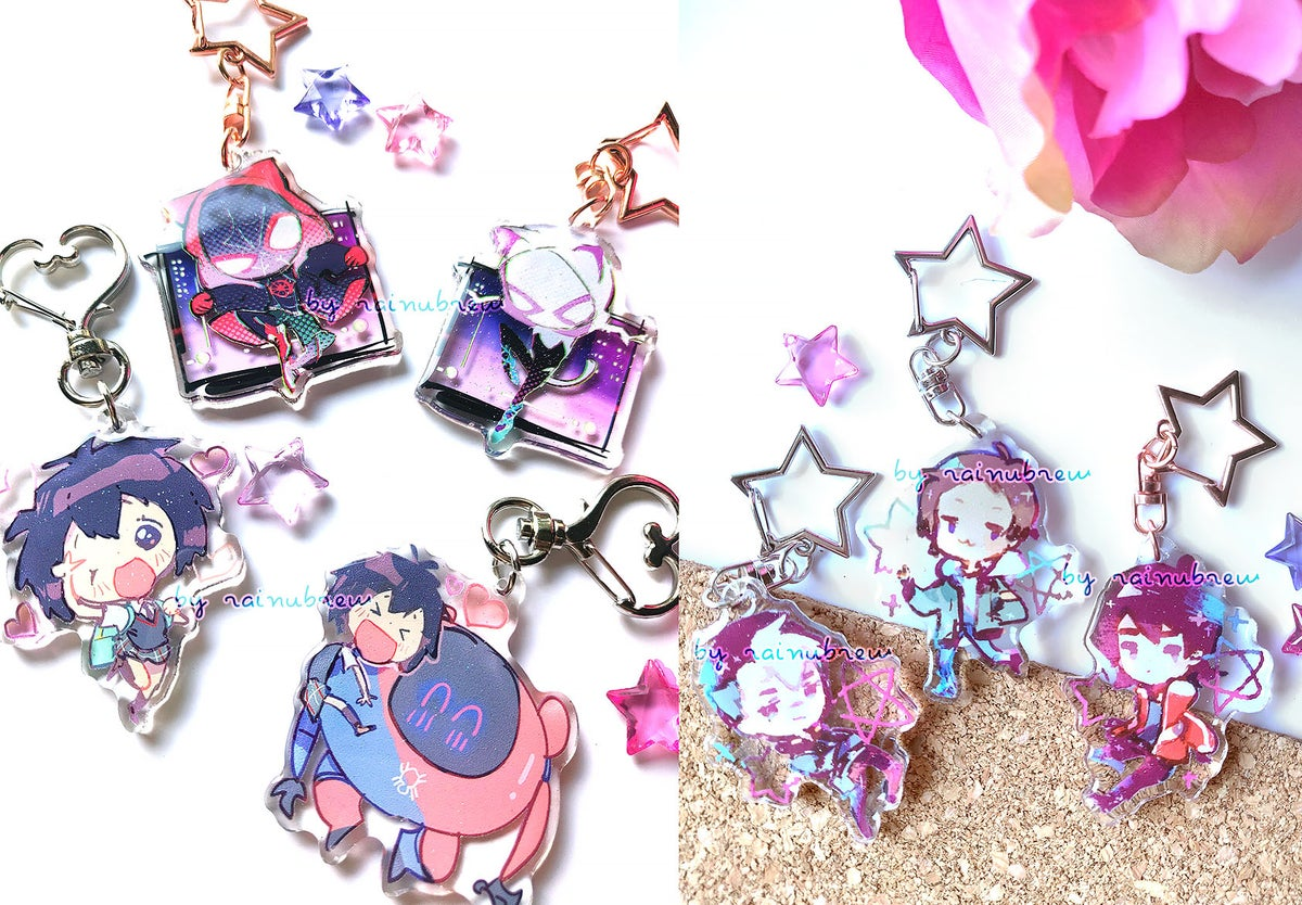 Image of Spiderverse and Voltron   2 inch charms
