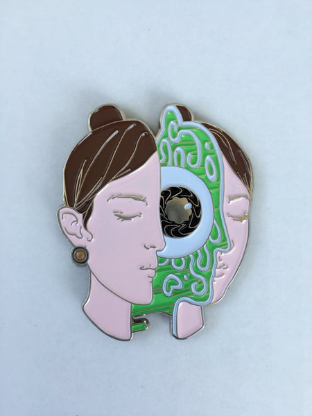 Image of Inner Eye Green Variant Enamel Pin by Miles Johnston