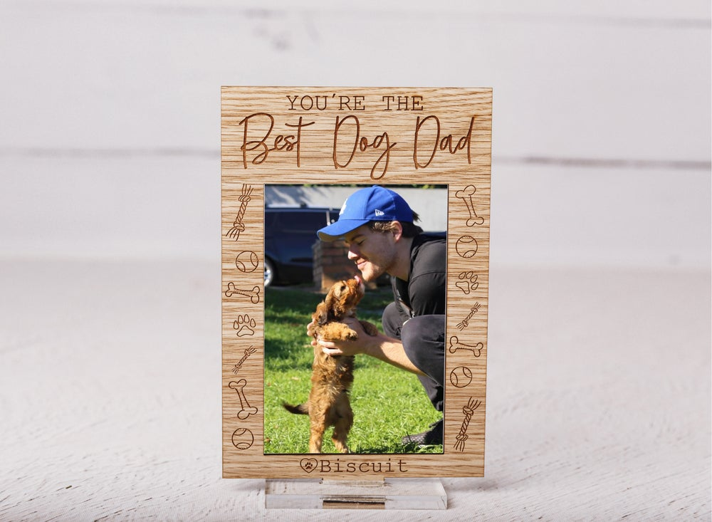 Image of Best Dog Dad Custom Frame