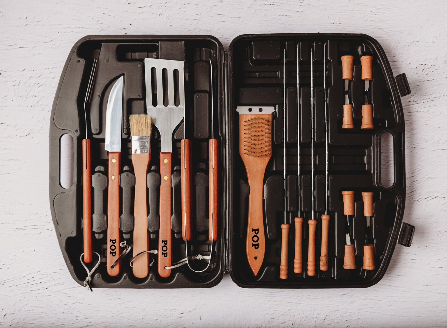 Image of 18 pce BBQ Tool Set - Grilled to Perfection