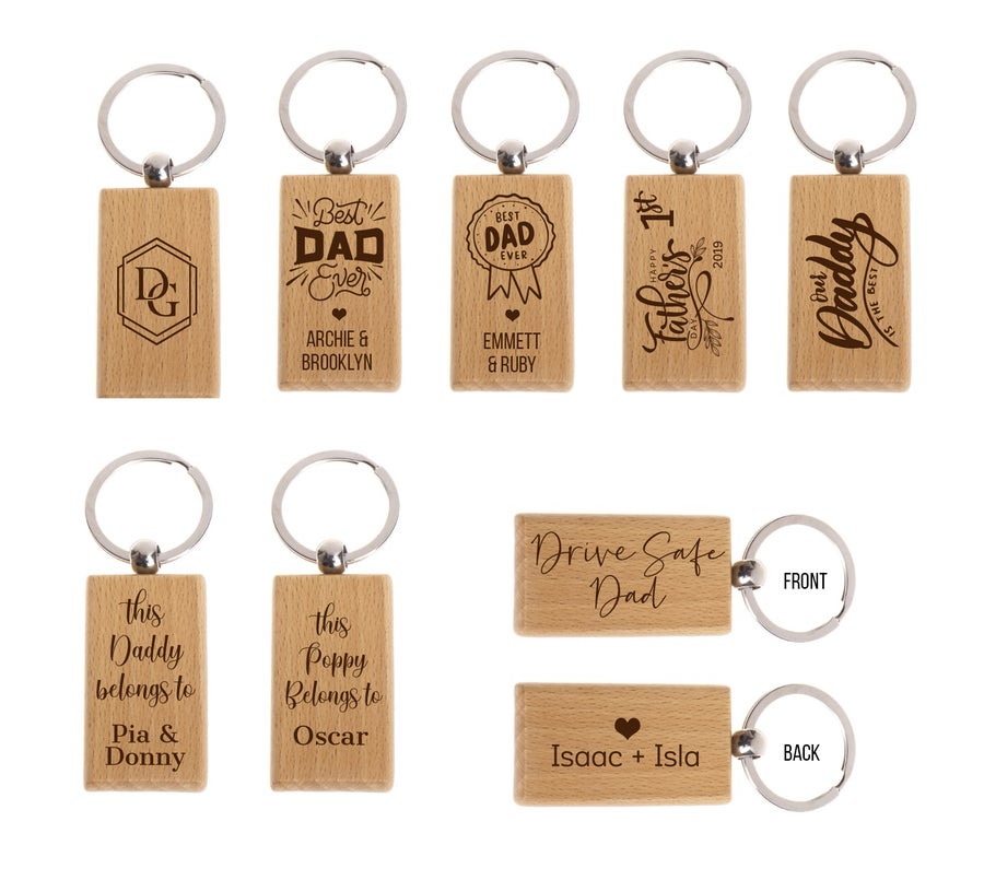 Image of Custom Timber Key Rings
