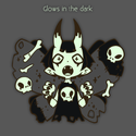 "[Backorder] Glow-in-the-dark 2"" Goth Moth Enamel Pin"