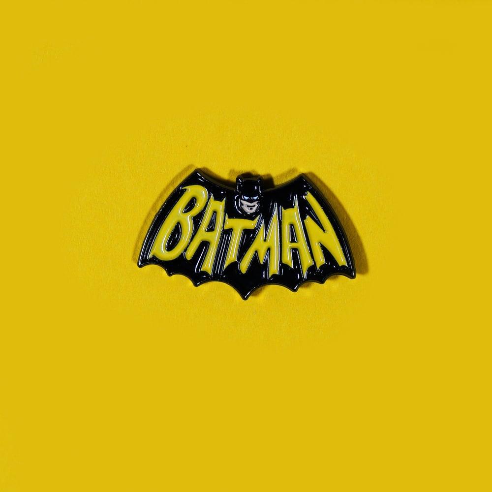Image of Bat Logo '66 enamel pin