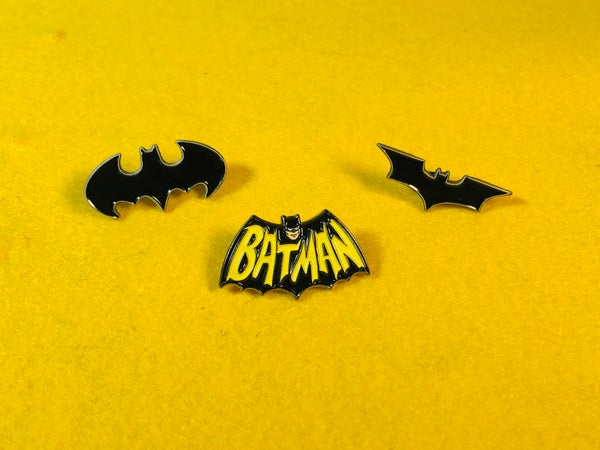 Image of Bat Logo Enamel Pin Set