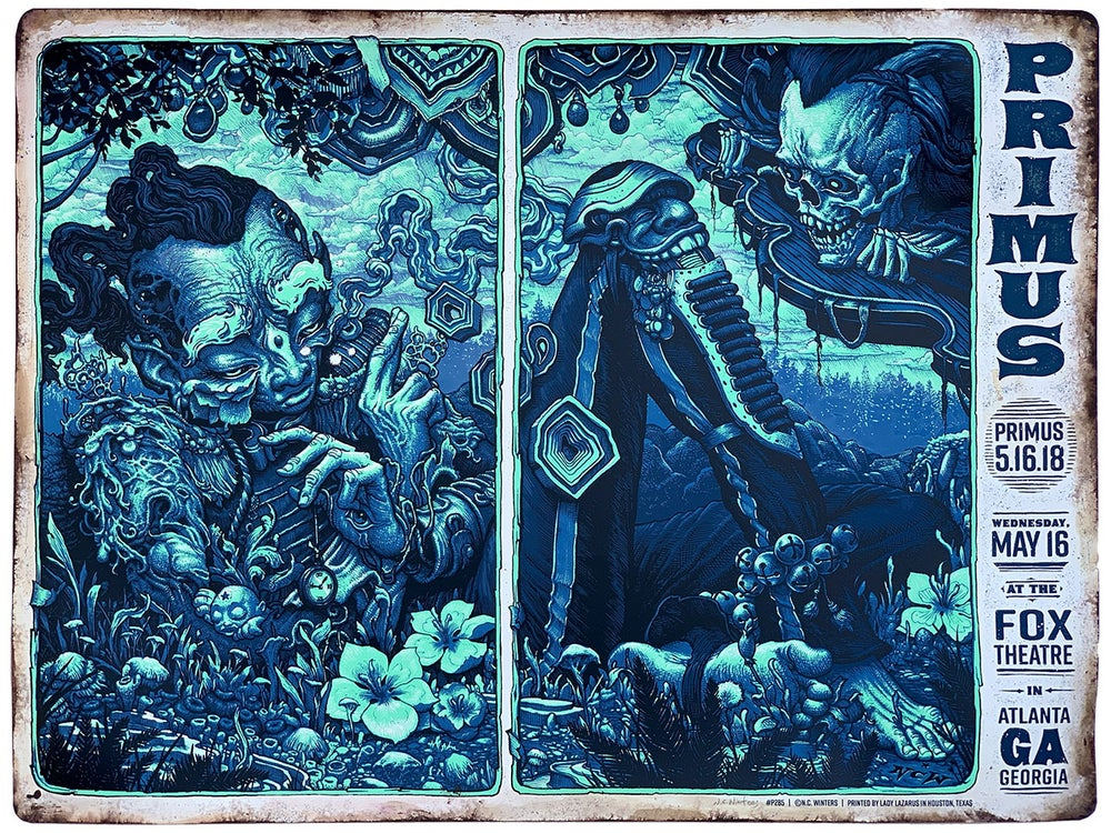 Image of Primus Fox Theatre Hand Embellished Posters