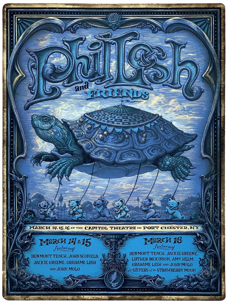 Image of Phil Lesh Hand Embellished posters