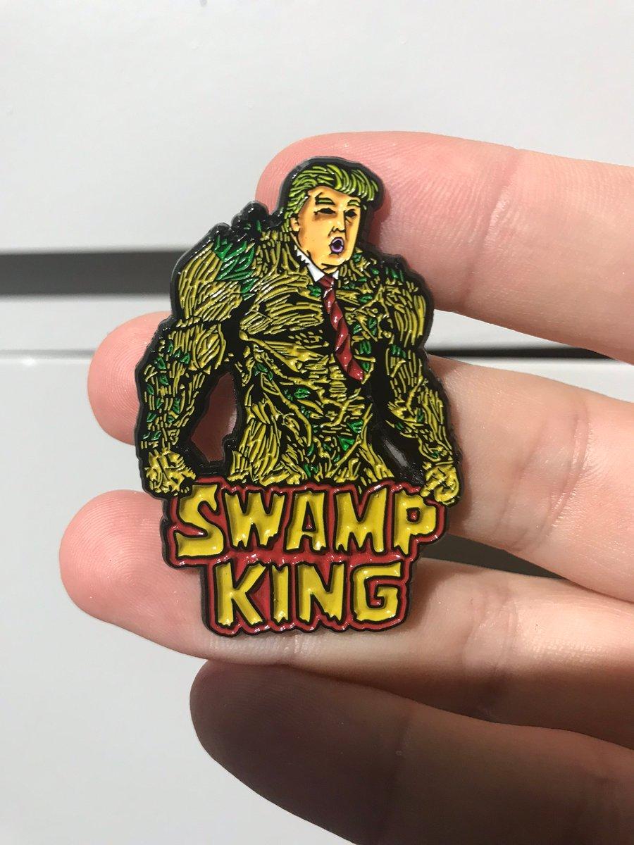 Image of Swamp King Enamel Pin