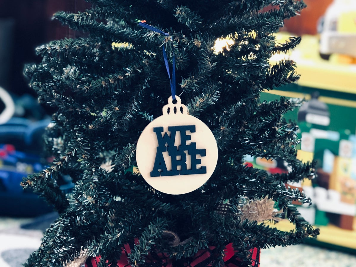 Image of Wood We Are bulb Ornament