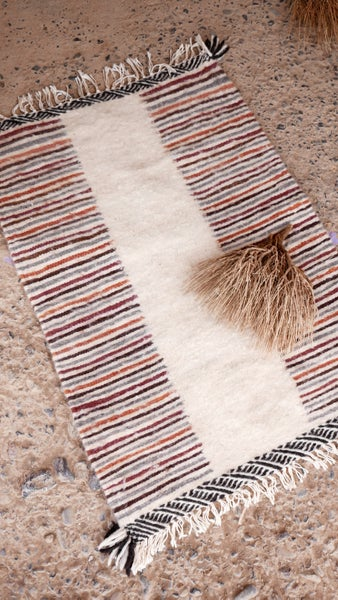 Image of Moroccan Kilim Rug - Stripes