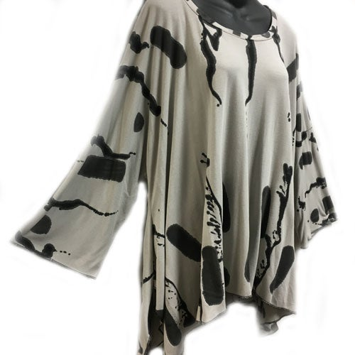 Image of Joy Tunic - bamboo - Hop Scotch design - size M-XL