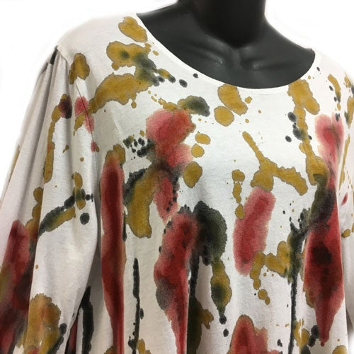 Image of Swing Top - cotton jersey - Happy Design - hand painted size S-M