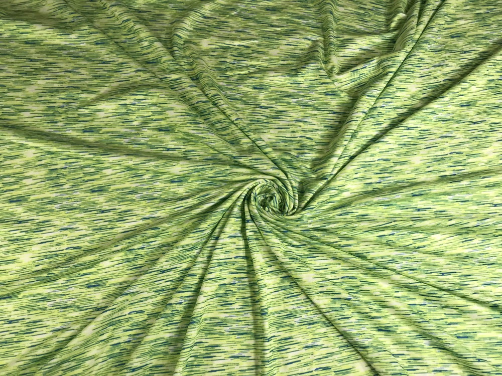 Image of Lime Static Brushed Poly