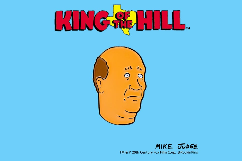 Image of King of the Hill - Bill Dauterive Head Enamel Pin