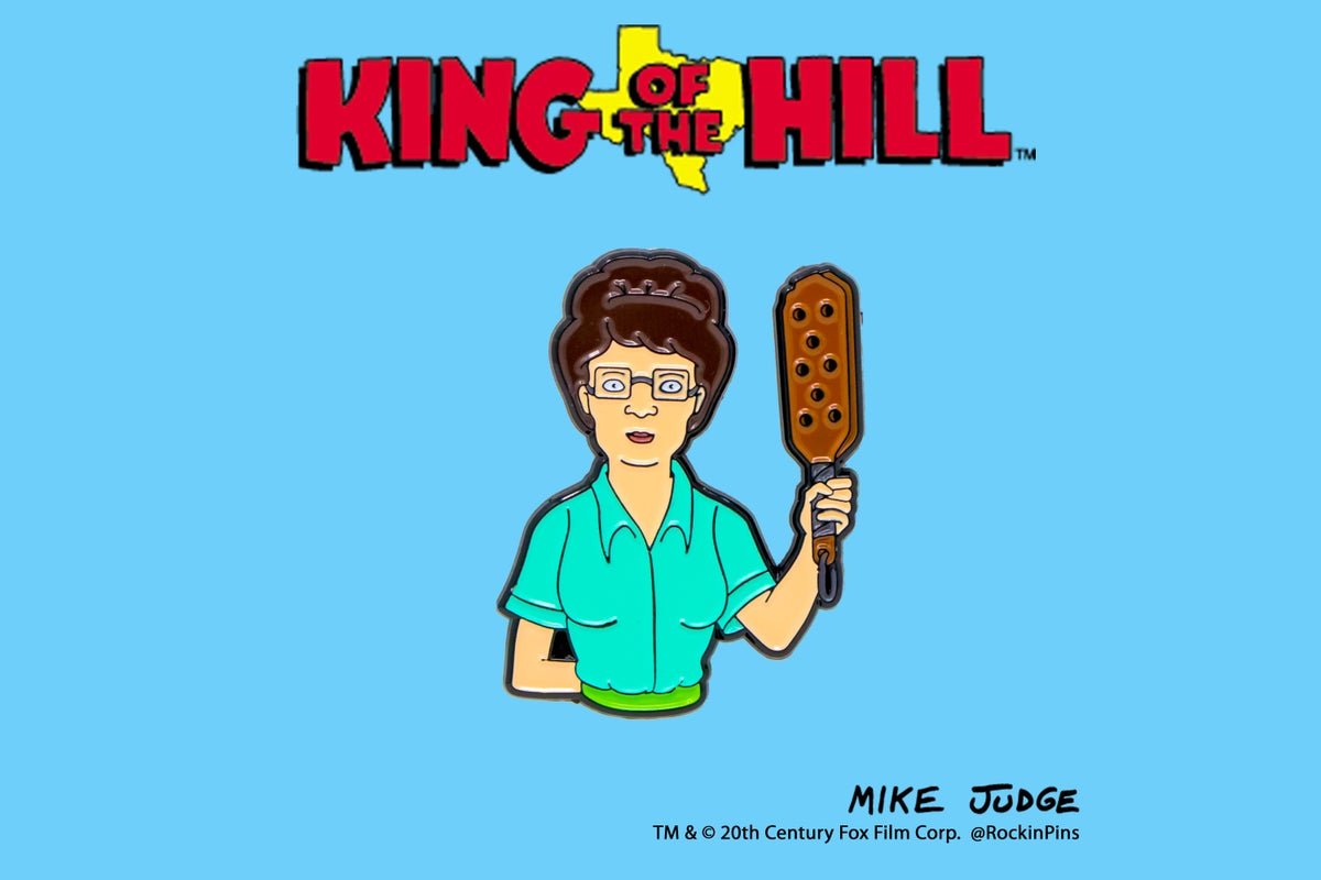 Image of King of the Hill - Paddlin' Peggy Hill Enamel Pin