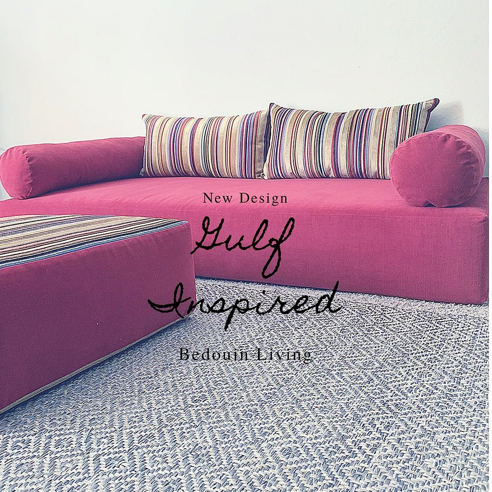 Image of Gulf Inspired Floor Sofa Set