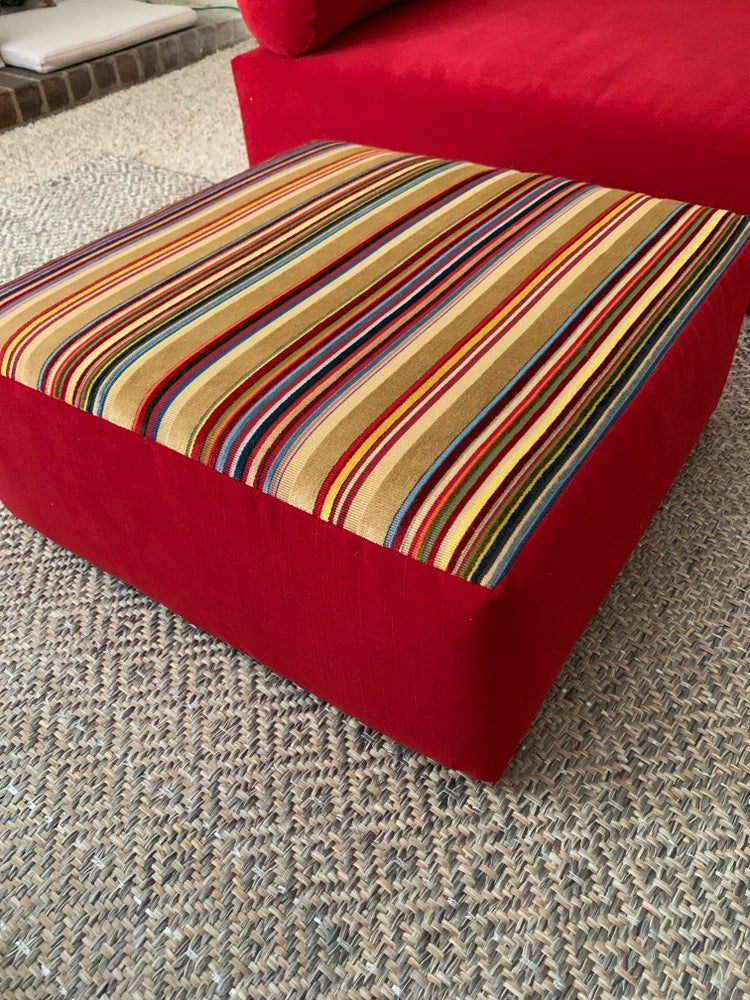 Image of Gulf Inspired Ottoman/ Floor Chair