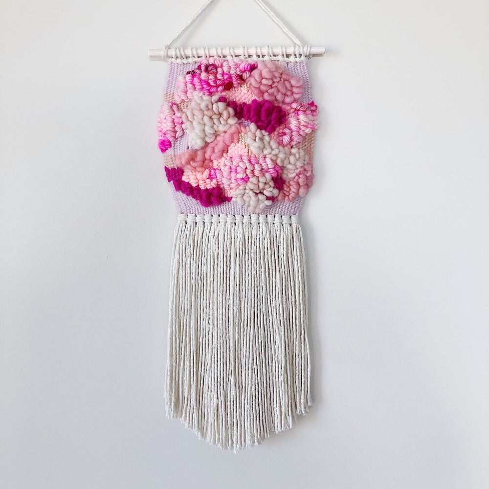 Image of Woven Wall Hanging - Blushing Clouds