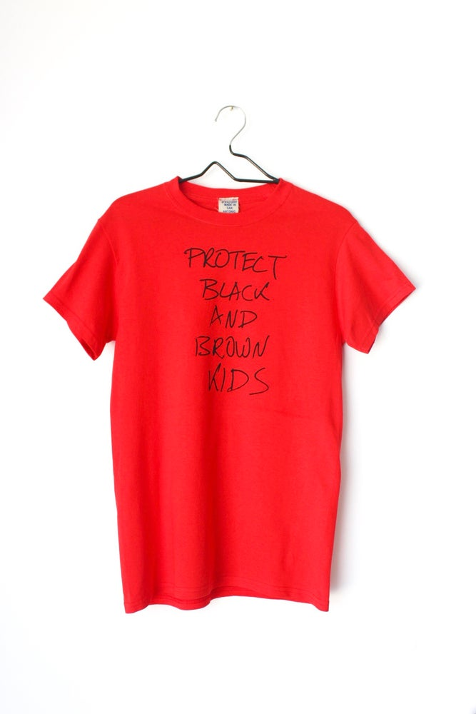Image of Protect Us tee in red