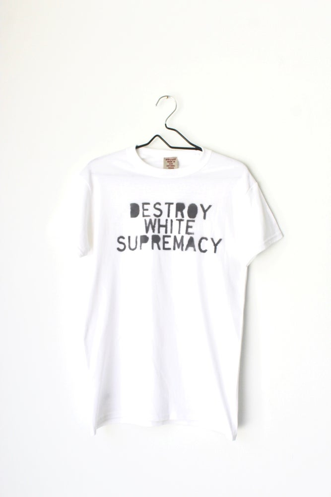 Image of destroy white supremacy rd.2 tee in white