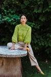 Frid Sweater LIMITED of Merino Peruvian  Wool (colour green apple)