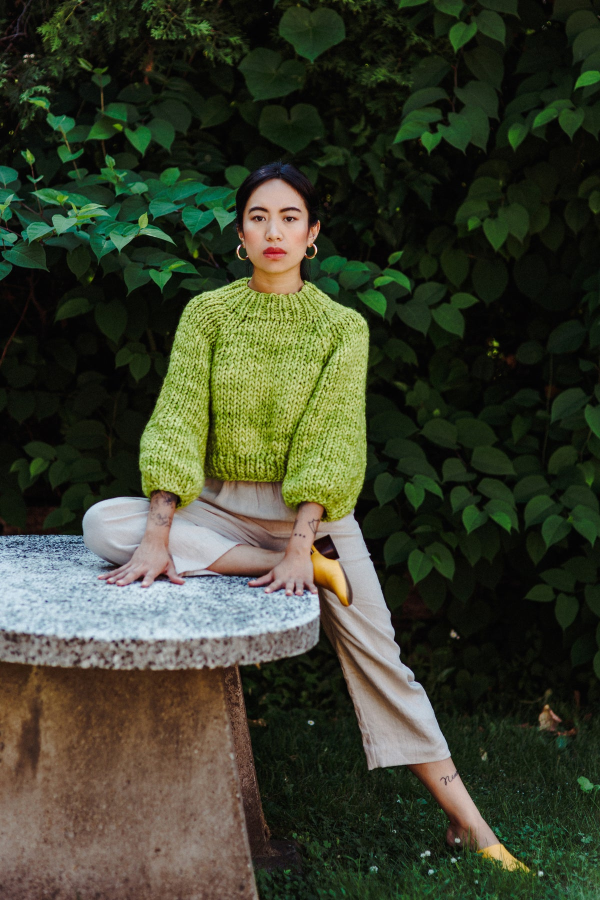 Image of Frid Sweater LIMITED of Merino Peruvian  Wool (colour green apple)