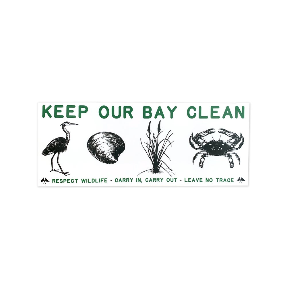 Image of Keep Our Bay Clean Sticker - 3 Pack