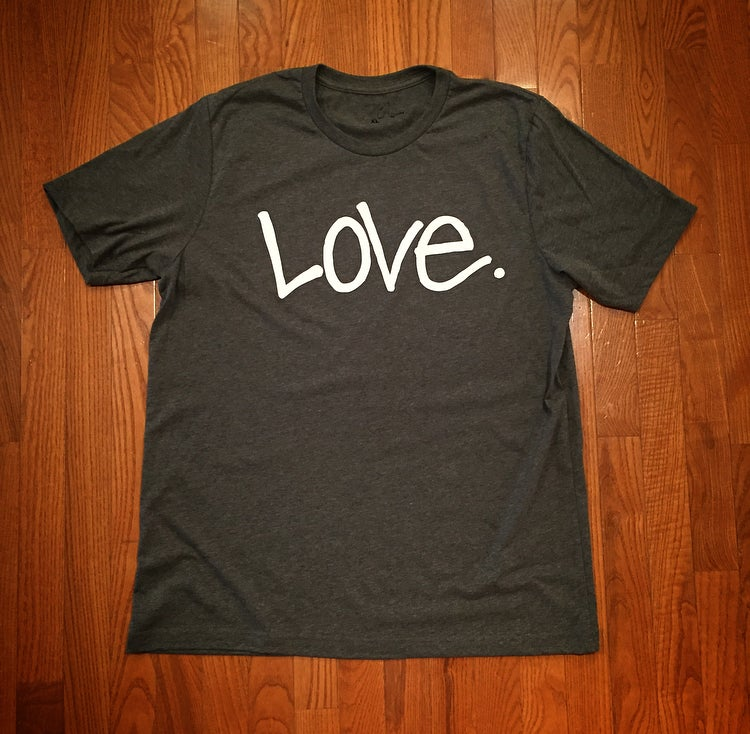 "Image of Heather Gray & White ""Love...period!"" Tee"