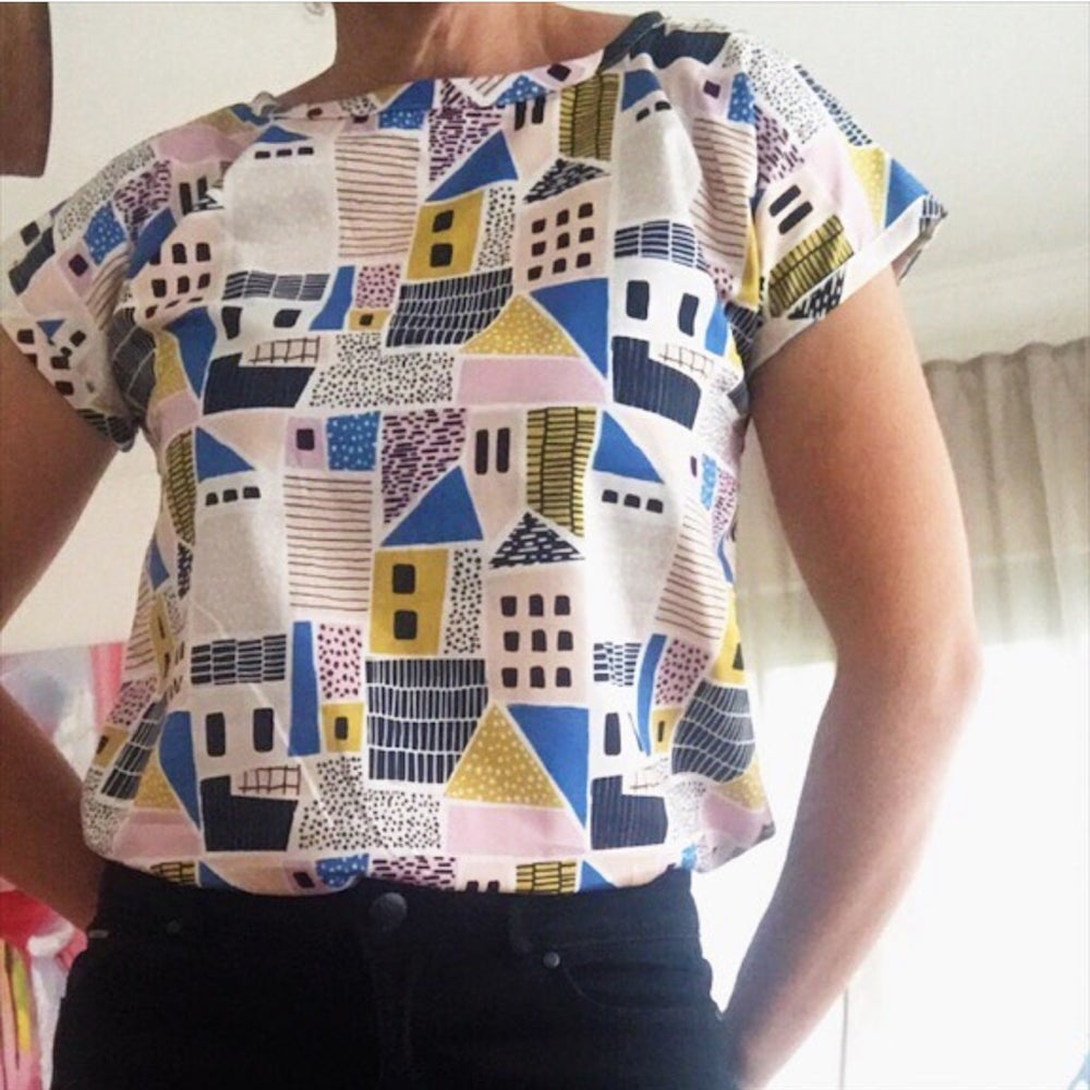 Image of T Top - choose your vintage fabric