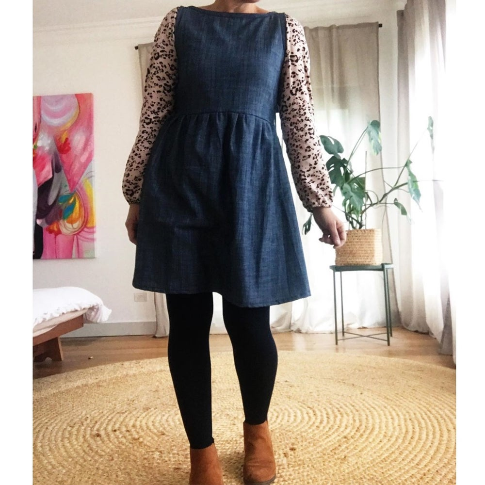 Image of Custom Denim Sleeveless Julia Dress