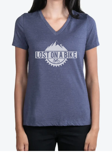 Image of Lost on a Bike Women's Logo T