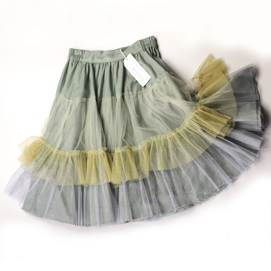 Image of Wonderland Tulle Skirt - Sage Sunflower