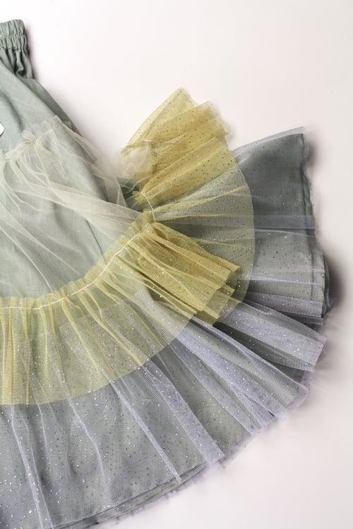 Image of Wonderland Tulle Skirt - Sage Sunflower