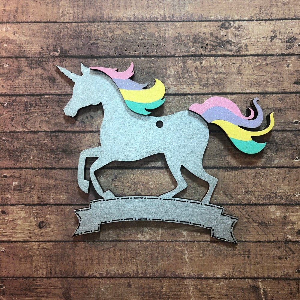 Image of Rainbow Unicorn decoration