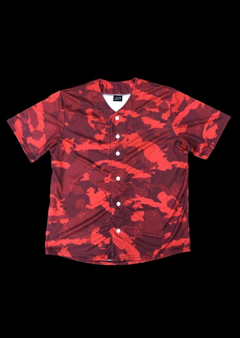 Image of BASEBALL VEST WI CAMO RED