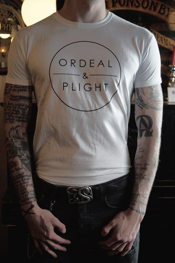 Image of Ordeal & Plight - Logo Shirt (white)