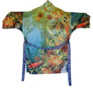 Image of Lily Greenwood Kimono Robe - 'Lily Pond'