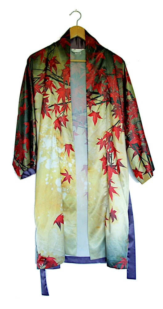 Image of Lily Greenwood Kimono Robe - 'Japanese Maple'
