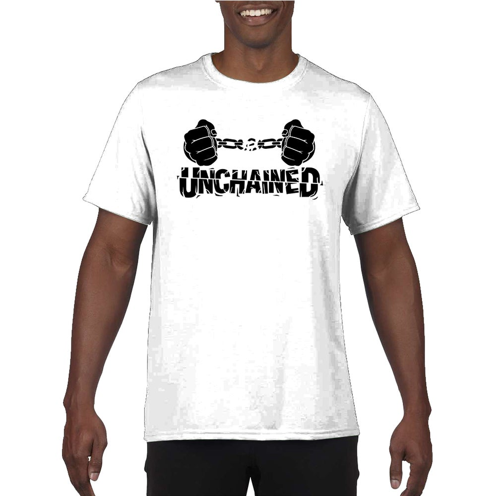 Image of Unchained Black on White