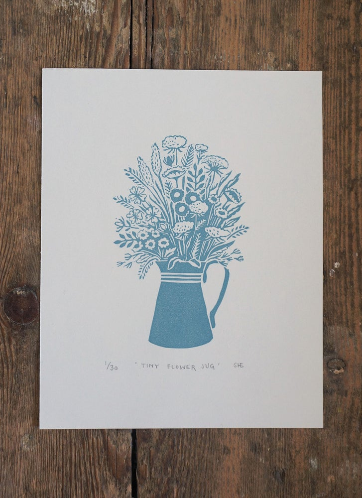 Image of Tiny Flower Jug - Linocut