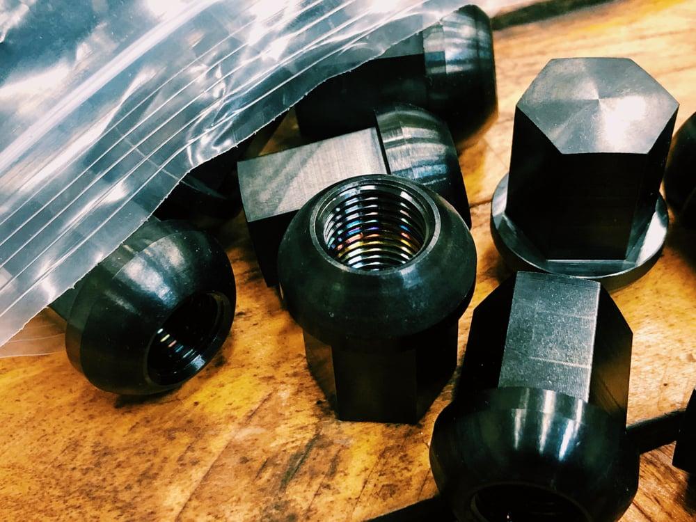 Image of Butzi Gear Black Titanium Porsche Lug Nuts