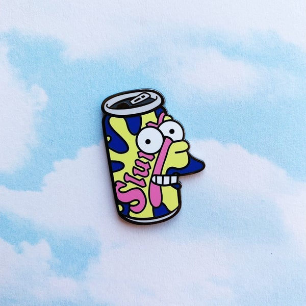 Image of Delivery Boy Soda Can Enamel Pin