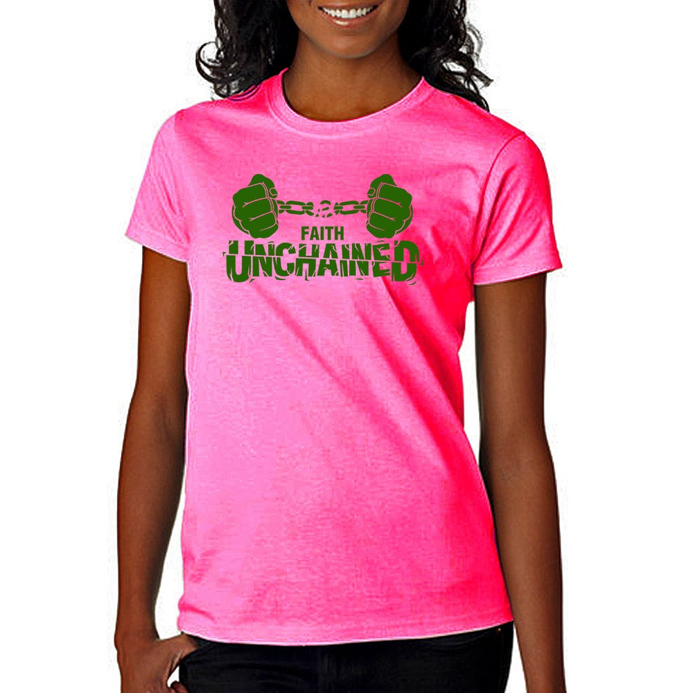 Image of Faith Unchained Pink and Green