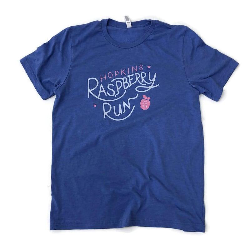 Image of 2019 Raspberry Run Unisex Tee (Columbia Blue)