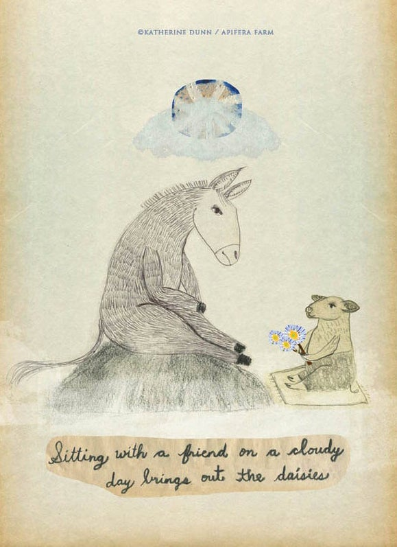 Image of Sitting with a Friend a print
