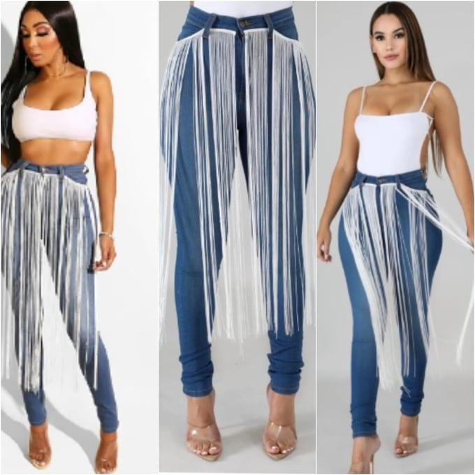 Image of Fringe Jeans