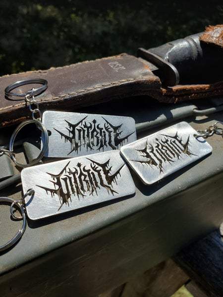 Image of Stainless Steel Logo Keychain