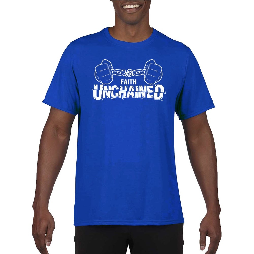 Image of Faith Unchained Blue and White