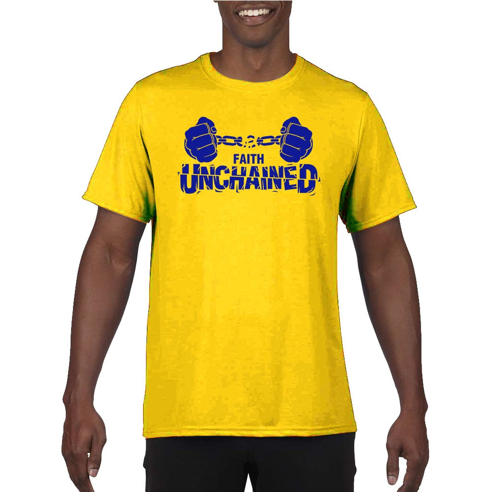 Image of Faith Unchained Yellow and Blue
